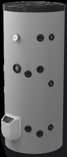 Снимка на Бойлер Eldom 200 л. 3kW, стоящ, серпентинa, електронно управление, емайлиран FV20067SE (FV20060SE)