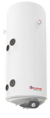 Снимка на Бойлер Eldom 120л. 3 kW вертикален, лява серпентина, емайлиран WV12046SL