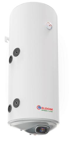 Снимка на Бойлер Eldom 120л. 3 kW вертикален, лява серпентина, електронно управление, емайлиран WV12046SLE