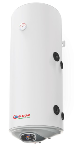 Снимка на Бойлер Eldom 120л. 3 kW вертикален, дясна серпентина, електронно управление, емайлиран WV12046SRE