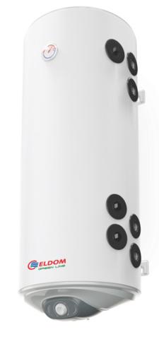Снимка на Бойлер Eldom 120л. 3 kW вертикален, две десни паралелни серпентини, емайлиран WV12046S21R
