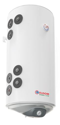 Снимка на Бойлер Eldom 100л. 3 kW вертикален, две леви паралелни серпентини, неръждаем WV10046IS21L