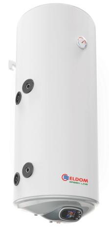 Снимка на Бойлер Eldom 120л. 3 kW вертикален, лява серпентина, електронно управление, неръждаем WV12046ISLE
