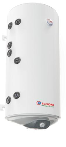 Снимка на Бойлер Eldom 120л. 3 kW вертикален, две леви серпентини, неръждаем WV12046IS2L
