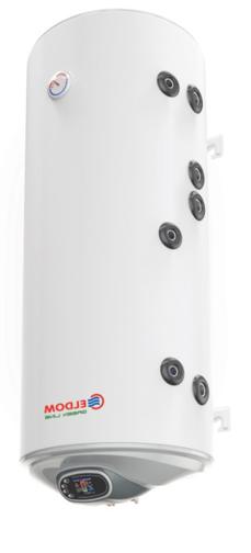 Снимка на Бойлер Eldom 120л. 3 kW вертикален, две десни серпентини, електронно управление, неръждаем WV12046IS2RE