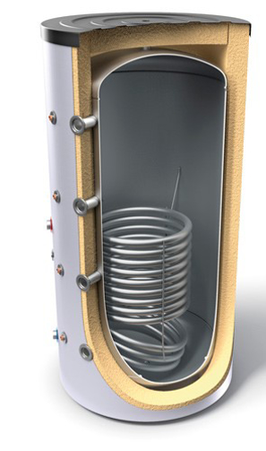 Снимка на Буферни съдове за отоплителни инсталации с топлообменник TESY  V 12S 300 65 F41 P4