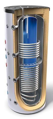 """Снимка на Комбинирани високообемни бойлери за отоплителни инсталации и битова гореща вода - тип """"tank in tank"""" с два топлообменника Tesy V 12/9 S2 800 95 EV 200 45 C"""