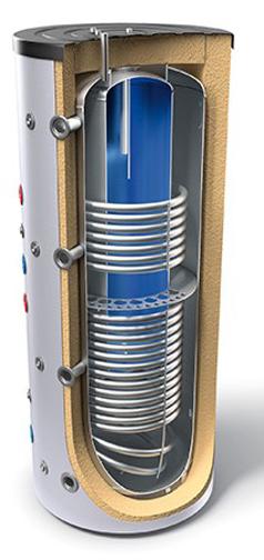 """Снимка на Комбинирани високообемни бойлери за отоплителни инсталации и битова гореща вода - тип """"tank in tank"""" с два топлообменника Tesy V 15/9 S2 1000 95 EV 200 45 C"""