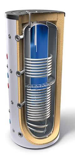 """Снимка на Комбинирани високообемни бойлери за отоплителни инсталации и битова гореща вода - тип """"tank in tank"""" с два топлообменника Tesy V 12/8 S2 1500 120 EV 300 55 C"""