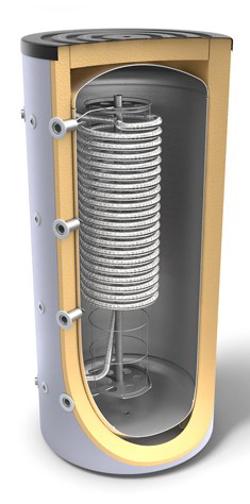 Снимка на Комбинирани високообемни бойлери за отоплителни системи и битова гореща вода с хигиенна серпентина Tesy V 1000 95 HYG 5.5 C