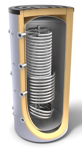 Снимка на Комбинирани високообемни бойлери за отоплителни системи и битова гореща вода с хигиенна серпентина и топлообменник Tesy V 10S 800 95 HYG5.5 HE C