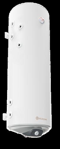 Снимка на Бойлер Eldom 150л. 3 kW вертикален, две леви паралелни серпентини, емайлиран WV15046S21L