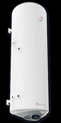 Снимка на Бойлер Eldom 150 л. 3kW  вертикален, с ниска лява серпентина, неръждаем WV15046ISL