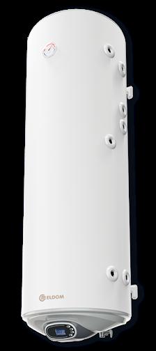 Снимка на Бойлер Eldom 150 л. 3kW  вертикален, две десни серпентини, електронно управление, емайлиран WV15046S2RE