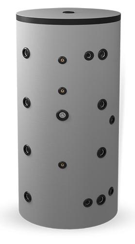 Снимка на Неемайлиран буферен съд 1000 л. с една черна и една неръждаема серпентина BCWS500K80