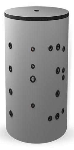 Снимка на Неемайлиран буферен съд 1000 л. с две черни и една неръждаема серпентина BCWS2 750K