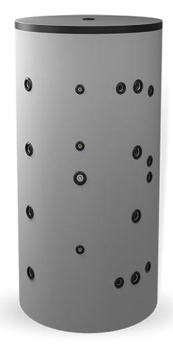 Снимка на Неемайлиран буферен съд 1000 л. с две черни и една неръждаема серпентина BCWS2 1000K