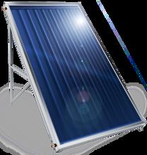 Снимка на Слънчев колектор плосък Елдом, с алуминиев оребрен абсорбер, 2 кв. м