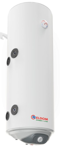 Снимка на Бойлер Eldom 80л. 3 kW вертикален, лява серпентина, емайлиран WV08039SL